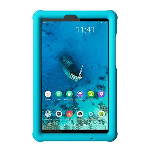 MingShore Rugged Case for Lenovo Tab M8 HD/Tab M8 FHD/Smart Tab M8, Kid Friendly Silicone Bumper Heavy Duty Protective Cover for TB-8505F TB-8505X TB-8505FS TB-8705F 8 inch Tablet (Turquoise)