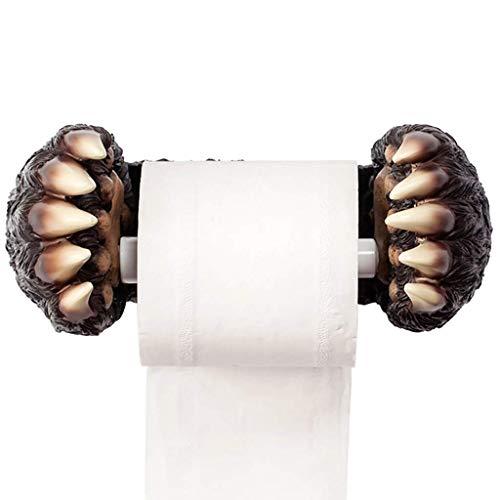 ZJN-JN Porte-papier toilette pour salle de bain avec porte-serviettes en papier toilette pour salle de bain ou papier toilette mural (couleur : noir,