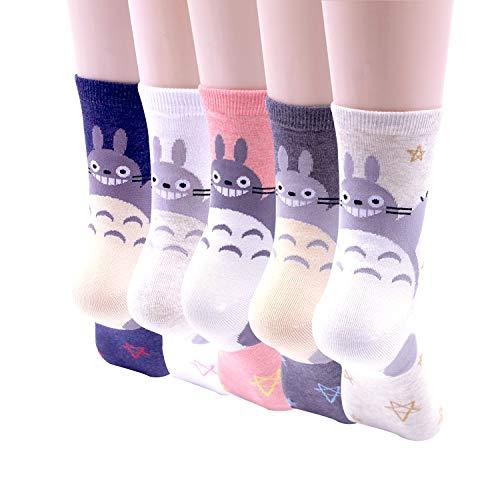 Ksocks Damen Socken One size, Totoro Star 5 Pairs, one size