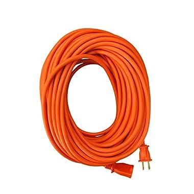 Coleman Cable 02209 16/2 Vinyl Outdoor Extension Cord, Orange, 100-Feet