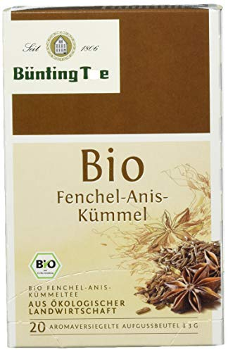 Bünting Tee Bio Fenchel-Anis-Kümmel 20 x 3 g Beutel (1 x 60 g)