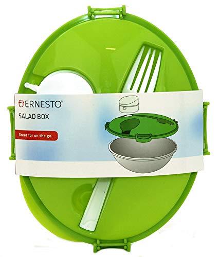Ernesto Salat-Lunchbox mit integrierter Gabel und Salatdressing-Behälter, mikrowellen-, kühlschrank- und gefriergeeignet
