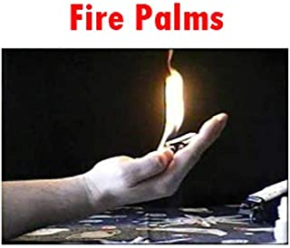 Set of 2 Fickle Fire Flames at Hand Palm Metal Gimmick Trick Prop for Real Magic