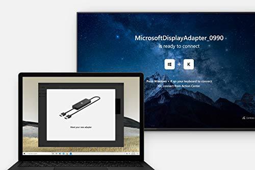 Microsoft 4K Wireless Display Adapter (Adapter zur kabellosen Bildschirmübertragung) schwarz