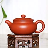WANGZHI Tetera, ore Zhuni Macetas antiguas, juego de té hecho a mano, macetas antiguas, maceta de arena morada antigua Barro morado