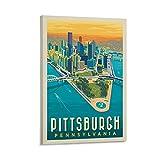 Vintage-Poster Pittsburgh, PA Bird's Eye View,