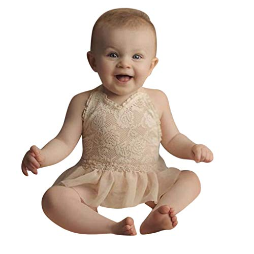 Julhold Pasgeboren Baby Meisje Leuke Elegante Eenvoudige Mouwloos Effen Kant Jurk Katoen Romper Kleding Outfits 0-18 Maanden