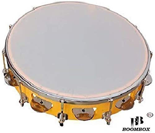 BOOMBOX Fibre Dafli 10 Inch Hand Percussion Musical Instrument Yellow Random Colour
