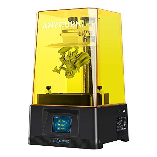 ANYCUBIC Photon Mono 3D Drucker, UV-lichthärtender LCD Harz 3D-Drucker Schneller Druck mit 6 Zoll 2K Monochrom LCD Bildschirm, Druckgröße 130 x 82 x 165 mm