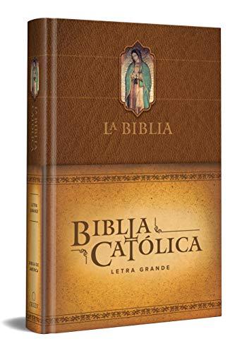 La Biblia Católica: Edición Letra Grande. Tapa Dura, Marron, Con Vir