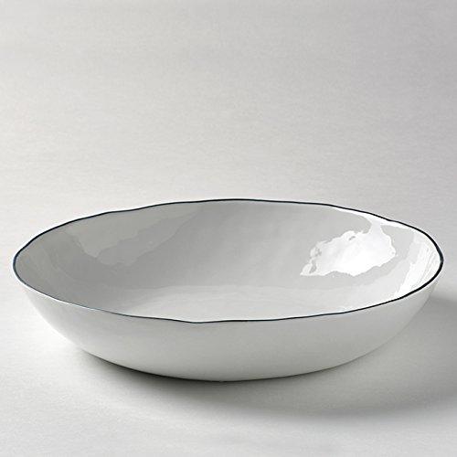 Lambert 21388 Geschirr, Keramik, Weiß, basalt Grau