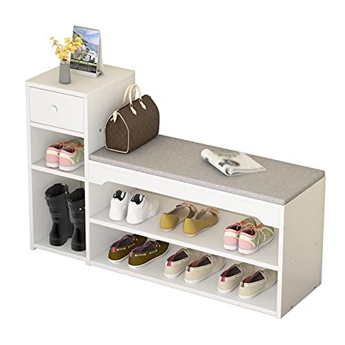 Organizador de almacenamiento de zapatero Rack de zapatos Cabina de zapatos de 3 capas Estante de cambio de zapatos integrado, usado para dormitorio Sala de estar Corredor Zapato Organización de almac