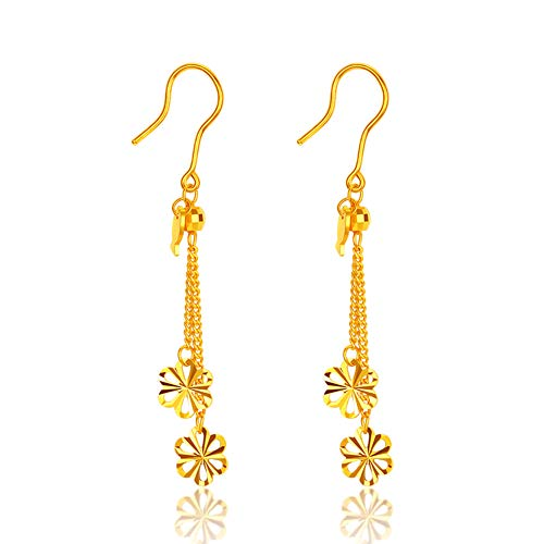 Wacelethh luxe damesoorbellen nappaleder goud geel voor een klassieke stijl Ed Elegant, 4.16G