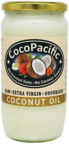 CocoPacific - Aceite de coco virgen extra crudo e inodoro, 750 ml