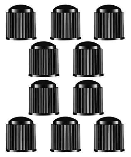 pas cher un bon Pack of 10 plastic tire valve covers for SUVs, motorcycles, trucks, bicycles, black