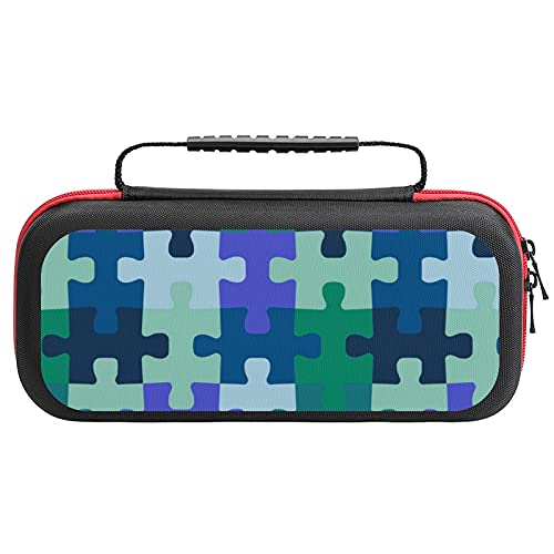 Jigsaw Puzzle Pieces Travel Carrying Case Game Bag for Nintendo Switch Console Accessories Holds 20 Game Card Bag