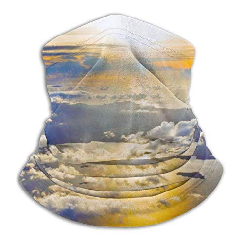 senob zonsondergang van een vliegtuig behang hoofddeksels nek Gaiter Warmer winter ski buis sjaal masker fleece gezicht cover winddicht aangepast