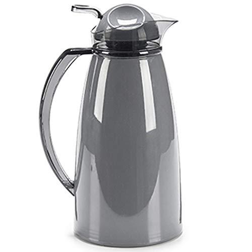 MGE - Caraffa Termica di Design in Acrilico con Coperchio - Brocca per Acqua, Tè, Succo di Frutta - Bottiglia Termica Disegno Acrilico con Coperchio - 1 l