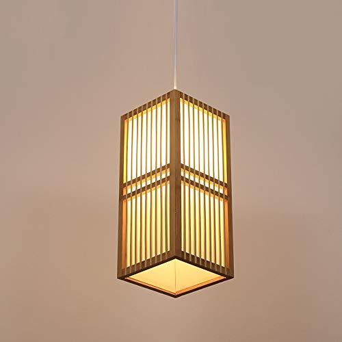 ZZYJYALG. Stile giapponese Lampadario singolo Head Bar Table Lamp Bamboo Restaurant Nuovo cinese piccolo lampadario sala da tè di bambù della lampada di vimini Rattan Weave Shades lampada