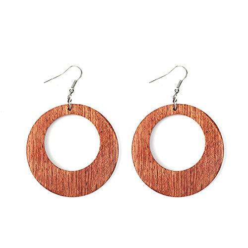 Dames Oorbellen Persoonlijkheid Natuurlijke Zeldzame Red Redwood Drop Oorbellen Mode-Sieraden