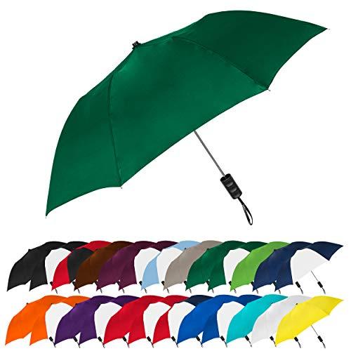 STROMBERGBRAND UMBRELLAS Spectrum Popular Style Automatic Open Close Small Light Weight Portable Compact Tiny Mini Travel Folding Umbrella for Men and Women, Hunter Green