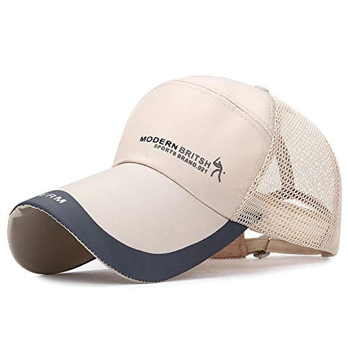 WEMAO Sommer wasserdichte Schnell Trocknende Mesh Running Baseball Cap - Atmungsaktiver Verstellbarer Snapback Hut - Frauen Männer - Beginnen