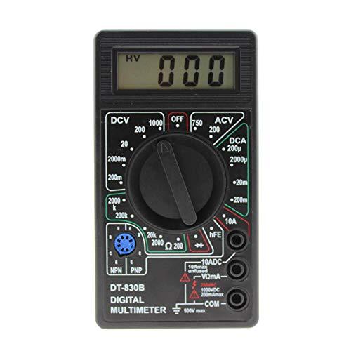 Preisvergleich Produktbild Oksea Digital Multimeter Auto Range Morpilot Strommessgerät Voltmeter Ohmmeter Amperemeter Temperatur Außenleiter Identifizierung True Durchgangsprüfung für professionelle Anwender (Schwarz)