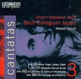 Bach: Cantatas Vol 3 (BWV 12, 54, 162, 182) /Bach Collegium Japan * Suzuki (2006-01-01)