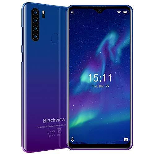 Blackview A80 Plus (2021) 4G Smartphone ohne Vertrag Günstig, Android 10 6.49 Zoll Octa-core Dual SIM Handy, 4GB RAM + 64GB ROM, 128GB erweiterbar 4680 mAh Batterie 13MP + 8MP Dual Kameras