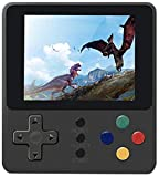 Handheld Game Console, Retro Portable Game Machine with 500 NES FC Games, 3-Inch Color Screen, 2 Players and TV Support, Rechargeable Battery Present Birthday Gift for Kids/Boys/Girls/Adults (black)