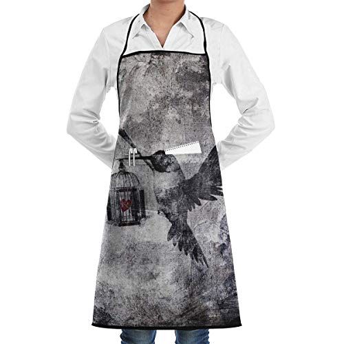 N\A Waterproof Hem Apron with Pocket 52cm 72cm, Unisex Apron When-The-World-Has-Fallen-Out