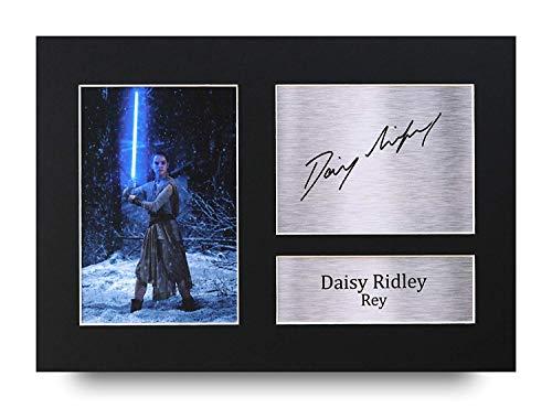 HWC Trading Daisy Ridley A4 Sin Marco Regalo De Visualización De Fotos De Impresión De Imagen Impresa Autógrafo Firmado por Star Wars Rey Los Aficionados Al Cine