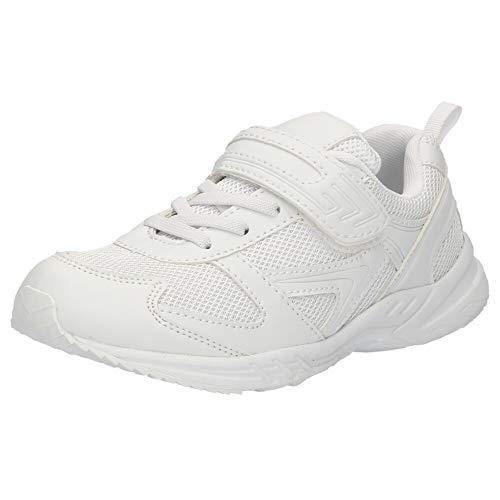 [Parade] パレード 上履き 内履き 白ズック 靴 上靴 8010 白 キッズ ジュニア 子供 学校 入学 室内履き ホワイト 21.0cm