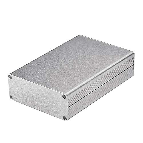 Eightwood Aluminum Project Box Electronic Enclosure Case for PCB Board DIY, 4.32 x 2.82 x 1.13(LWH) Symmetrical Split Body with Stripped Plates Box