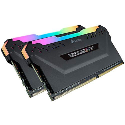 Corsair Vengeance RGB PRO - Kit de Mémorie Enthousiaste (16Go (2x8Go), DDR4, 2666MHz, C16, XMP 2.0) Eclairage LED RGB dynamique - Noir