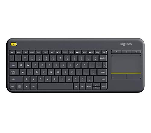 Logitech Wireless Touch Keyboard K400 Plus with Built-In Touchpad for Internet-Connected TVs (Renewed)