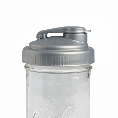 reCAP Mason Jars Pour, Wide Mouth, Canning Jar Lid, Silver