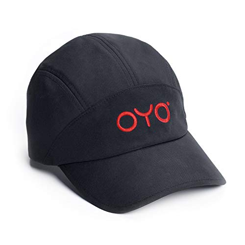 OYO Fitness Sport Cap - Adjustable Fit, Quick Dry, Men and Women - Black with Red Logo
