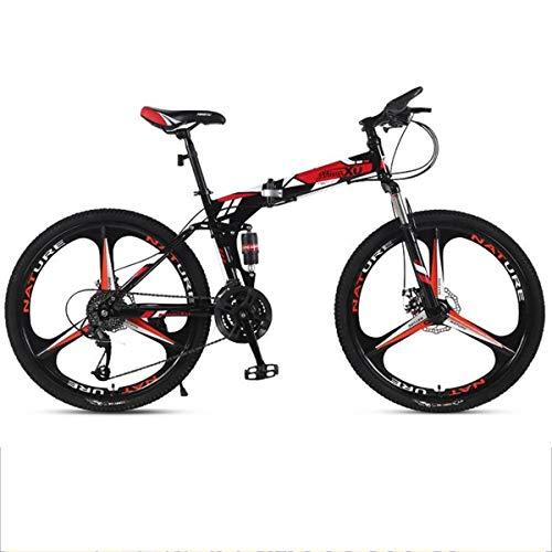 Mountain Bike bicicletta MTB Sportiva da Montagna Mountain Bike, MTB 26 Donne Inch Pieghevole Uomini / Biciclette, Acciaio Al Carbonio Telaio, Full Suspension Doppio Freno A Disco, Il 21/24/27-velocit
