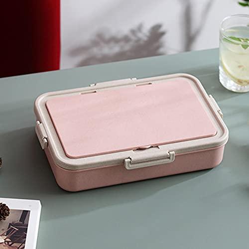 GXGX Bento - Fiambrera japonesa para oficina o trabajador, lonchera, contenedor para el almuerzo, para estudiantes, para almacenamiento de alimentos, a prueba de fugas, color rosa