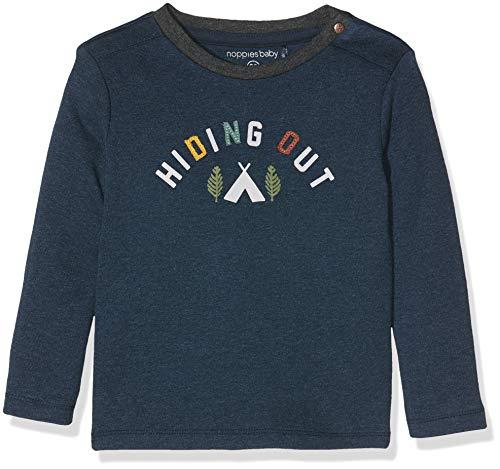 Noppies Baby-Jungen B Tee Regular ls Alvin T-Shirt, Blau (Dark Sapphire Melange P226), (Herstellergröße: 68)