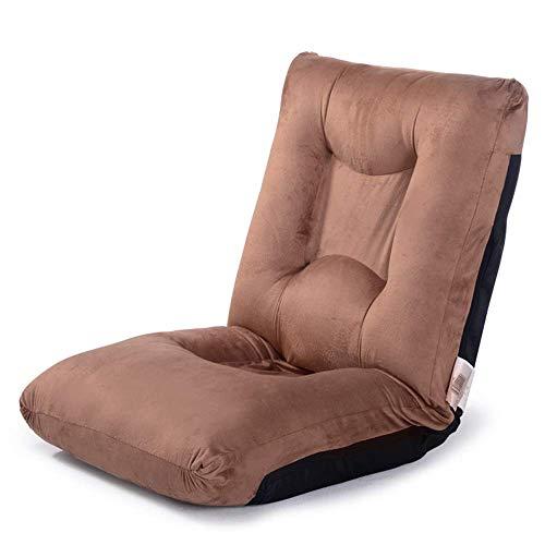 ZHXZHXMY Mobiliario de ocio para el hogar Silla baja plegable ajustable del respaldo cómodo sofá perezoso del Ministerio del Interior de la meditación de lectura Visualización de TV del juego de Brown