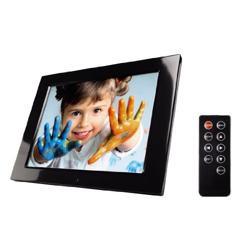 Hama New Basic Digitaler Bilderrahmen (30,7 cm (12,1 Zoll) Display, 4:3, SD/SDHC/MMC/MS-Kartenslot, Fernbedienung)