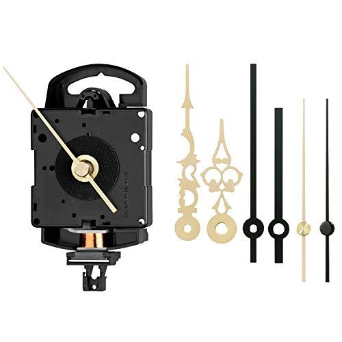 JUNGHANS Quarz-Pendel-Uhrwerk-Set SK 817 – ZWL 20,1 mm – Für leidenschaftliche Uhren-SELBERMACHER Alles dabei – Einbauzubehör und Zeiger-Sets – Bewährte Qualität – Auch für EINSTEIGER