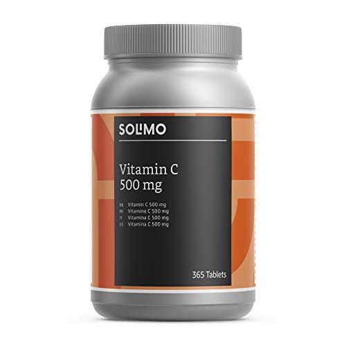 Amazon-Marke: Solimo Nahrungsergänzungsmittel mit Vitamin C 500 mg, 365 Tabletten