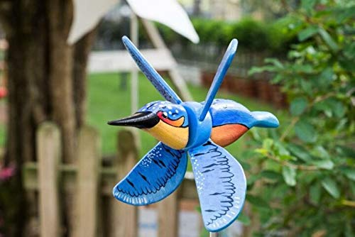 RWF Bird Spinner, Wooden Windmill Decoration, Courtyard Decoration, Suitable For Home Decoration Gifts (C)
