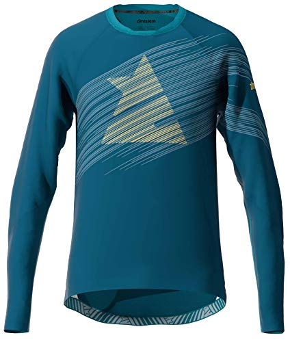 Zimtstern Herren ProTechZonez Shirt LS MTB, French Navy/Blue Steele, L