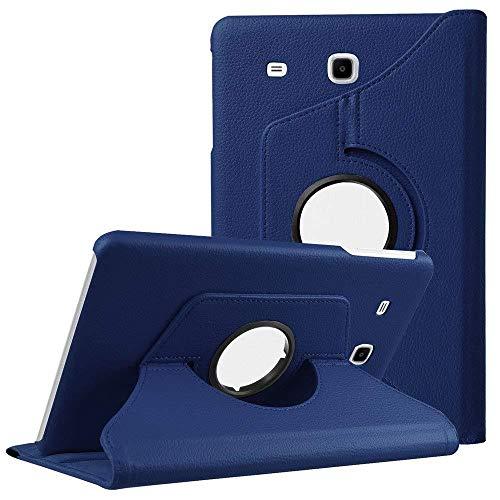 XIAOYAN Tab A6 7.0 Pulgadas T285 Cubierta Funda para Samsung Galaxy Tab A 7.0 2016 SM-T280 SM-T285 T285 360 Soporte Giratorio Funda con Tapa para Tableta-Azul Oscuro