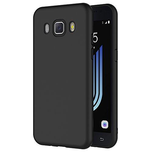 AICEK Samsung Galaxy J5 2016 Hülle, Schwarz Silikon Schutzhülle für Galaxy J5 2016 J510 Hülle TPU Bumper Samsung Galaxy J5 2016 Handyhülle (5.2 Zoll)