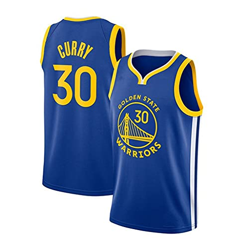 ZRHZB Golden State Warriors Adult Baloncesto Jersey 30# Curry Blue Basketball Jersey, Chaleco Bordado de Verano Top Adulto,B,M